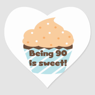 Being 90 is Sweet Birthday T-shirts and Gifts Heart Sticker