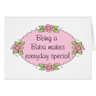Being a Baba makes everyday Speciall Card