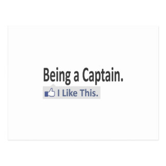 Being a Captain ... I Like This Postcard