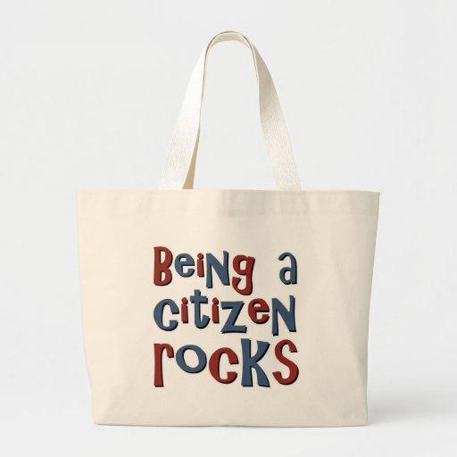 Being a Citizen Rocks Canvas Bag