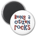 Being a Citizen Rocks Magnets