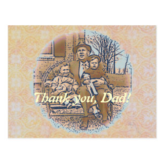 """""""Being a Dad"""" Father's Day Postcard"""