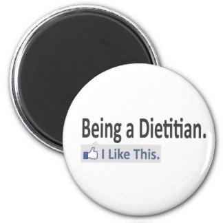 Being a Dietitian...I Like This 2 Inch Round Magnet