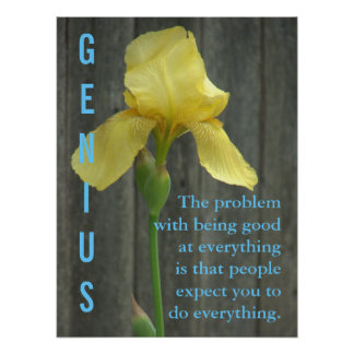 Being a genius is hard work (L) Poster