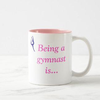 Being a gymnast is...hot drink mug