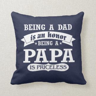 BEING A PAPA THROW PILLOW