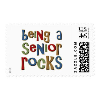 Being A Senior Rocks Stamps