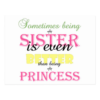 Being A Sister Is Even Better Pink Text Postcard