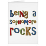 Being A Sophomore Rocks Greeting Card