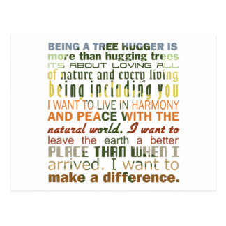 Being a Tree Hugger Postcards