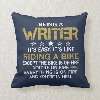 Being a Writer Throw Pillow