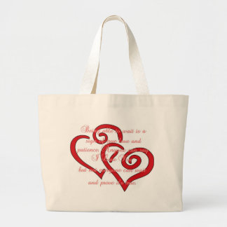 Being able to wait... jumbo tote bag