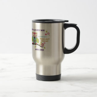 'Being Allergy Wise' travel mug