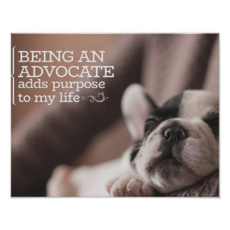 Being An Advocate by Inspirational Downloads Poster