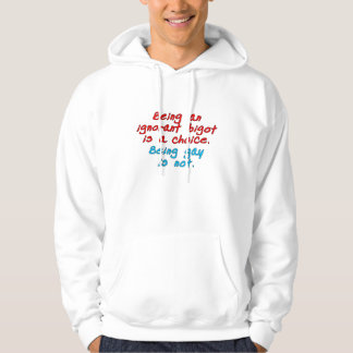 Being an ignorant bigot is a choice, being gay... hoodie