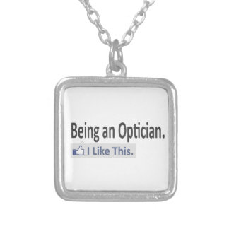 Being an Optician ... I Like This Square Pendant Necklace