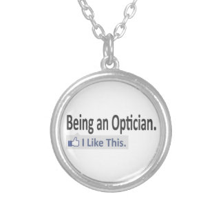 Being an Optician ... I Like This Round Pendant Necklace