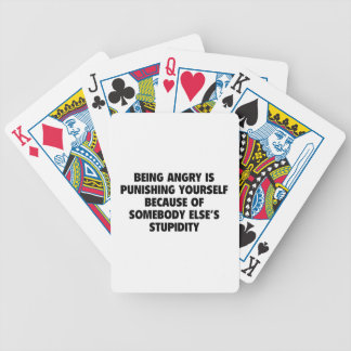 Being Angry Is Punishing Yourself Bicycle Playing Cards