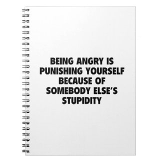 Being Angry Is Punishing Yourself Notebook