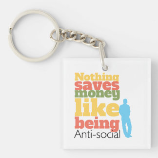 Being Anti Social Single-Sided Square Acrylic Keychain