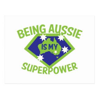 Being Aussie is my superpower Postcard