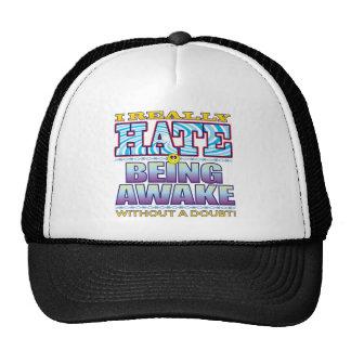 Being Awake Hate Face Trucker Hat