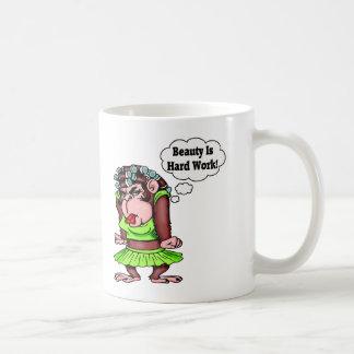 Being Beautiful Is Hard Work Coffee Mug