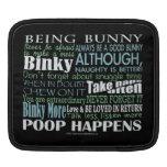 """""""Being Bunny"""" iPad Sleeve"""