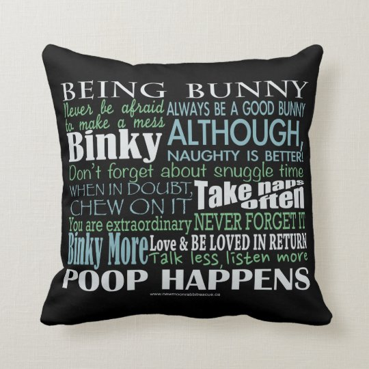 """""""Being Bunny"""" Pillow"""