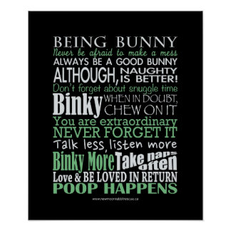 """""""Being Bunny"""" Poster/Prints Poster"""