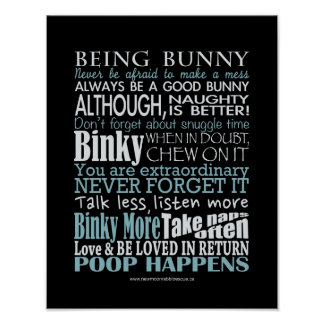 """""""Being Bunny"""" Posters/prints Poster"""
