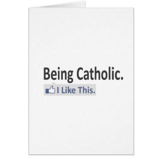 Being Catholic...I Like This Card