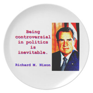 Being Controversial In Politics - Richard Nixon.jp Dinner Plate