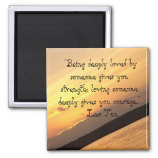 """""""Being deeply loved...: 2 Inch Square Magnet"""