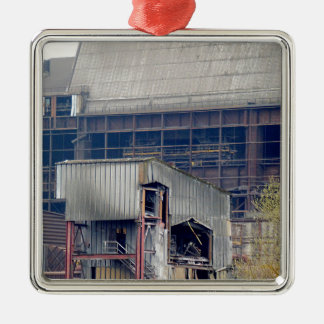 Being Destroyed Factory 2 Metal Ornament