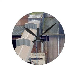 Being Destroyed Factory 4 Round Clock