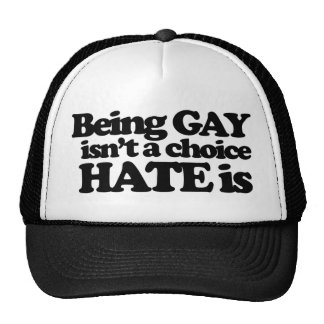 Being gay isn't a choice hate is trucker hat
