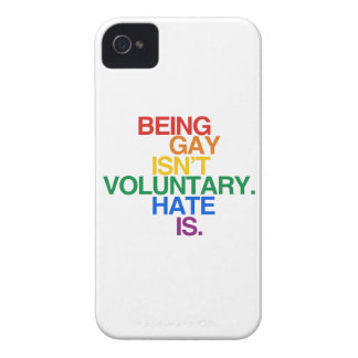 BEING GAY ISN'T VOLUNTARY iPhone 4 COVER