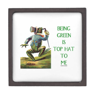Being Green Is Top Hat To Me Frog Environmental Gift Box