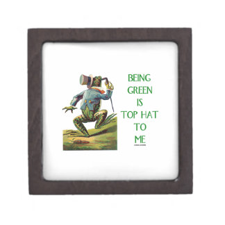 Being Green Is Top Hat To Me Frog Environmental Keepsake Box
