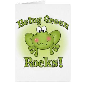 Being Green Rocks Card