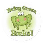 Being Green Rocks Classic Round Sticker