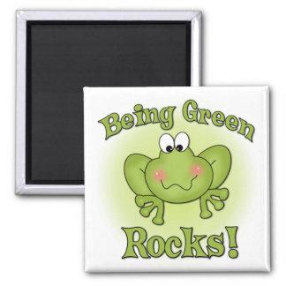 Being Green Rocks magnet