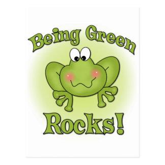 Being Green Rocks Postcard