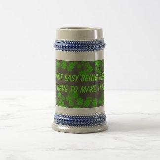 being green stein coffee mug