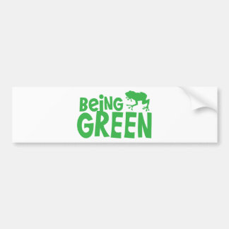 BEING GREEN with cute little frog Bumper Sticker
