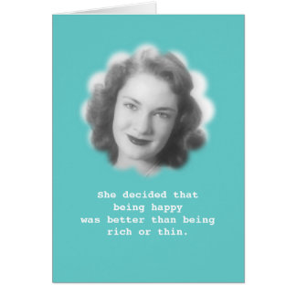 Being Happy Fun Vintage Photo Greeting Cards