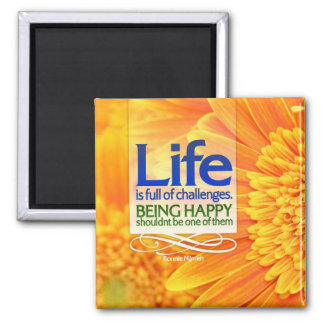 Being Happy Motivational Magnet