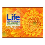 Being Happy Motivational Postcard