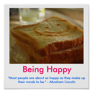 BEING HAPPY Motivational Poster